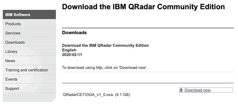 Install IBM QRadar Community Edition 7.3.3 in ten minutes, SiXe Ingeniería